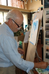 Paul Brent painting LIVE in natural light.